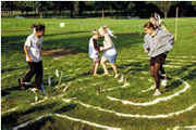 Children Walking the Labyrinth